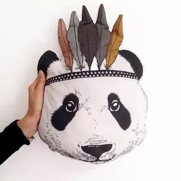 Fashion Baby Stuffed Toys Pillow Kids Room Bed Sofa Decorative Indian Panda animal shaped cushions doll Children's Best Gift