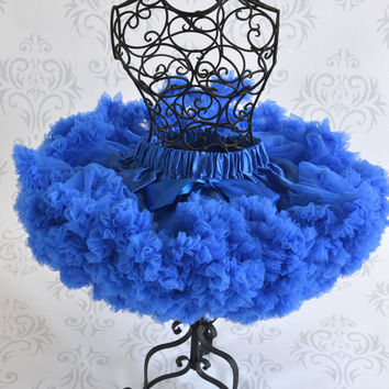 Pettiskirt - Tutu - Girls FIrst birthday Outfit - Pettiskirt - blue  Skirt - Newborn Photo Prop - Baby Outfit -baby pettikskirt