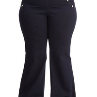 ModCloth Nautical Long High Waist Sailorette the Seas Jeans in Dark Wash - Plus