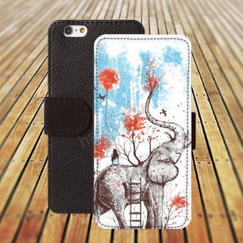 iphone 5 5s case Elephant Abstract cartoon iphone 4/4s iPhone 6 6 Plus iphone 5C Wallet Case,iPhone 5 Case,Cover,Cases colorful pattern L255