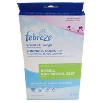 Bissell Febreze® Vacuum Bags (3 pack) for Upright Vacuums, Manufacturers Part No. 32671