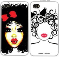 Global Couture — Curly girl iPhone case 4/4s & 5  & iPad cases
