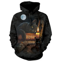 The Mountain THE WITCHING HOUR HOODIE Black Cat Witchcraft Kitten S-2XL NEW