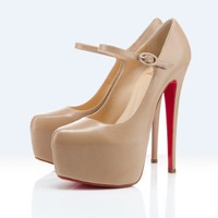 Christian Louboutin platforms lady daf 160mm beige - $196.00