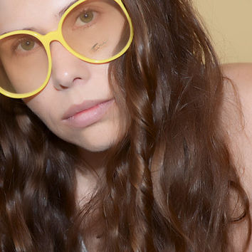 Tura Yellow Oversized Eyeglasses Large Frames  NOS Free Shipping