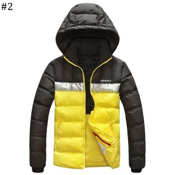 ADIDAS winter new lightweight down jacket coat hooded windproof warm cotton clothing #2