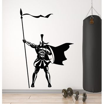 Vinyl Wall Decal Spartan Warrior Ancient Sparta Soldier Courage Stickers Mural (g948)