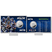 Seattle Seahawks Super Bowl 49 Silver Coin Card