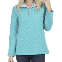 LAUREN JAMES LAGOON LAWSON QUILTED PULLOVER