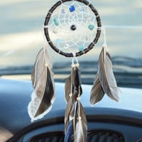 Native American Dreamcatcher, Rear View Mirror, Car Dreamcatcher, Car Mirror Charm, Car Accessory, Gift Idea for Men