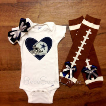 Cowboys Bodysuit Headband & Leg Warmers