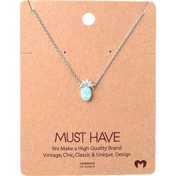 Must Have Necklace-Bling Pineapple, Silver