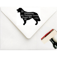 Custom Address Stamp | Dog Address Stamp | Dog Rubber Stamp Retriever | Mens Dog Lover Personalized Gift | Family Pet Stamp | Any Breed