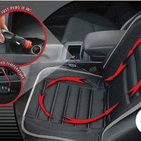 Car Seat 12v Heated Cushion Cover Warmer Hot Auto Heating Pad Winter Black
