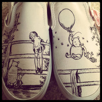 Custom Made Winnie The Pooh Shoes ARTWORK ONLY Shoes Not Included
