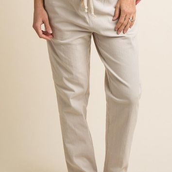 Light Hearted Textured Trousers