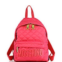 Moschino - Small Quilted Nylon Logo Backpack - Saks Fifth Avenue Mobile