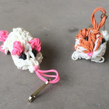 Rainbow Loom Charm - Zipper Pull - Charm - Guinea Pig - Mouse - Loom Charm - Loom Band - Bracelet - Necklace Charm - Rainbow Loom