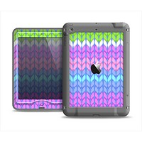 The Bright-Colored Knit Pattern Apple iPad Mini LifeProof Nuud Case Skin Set