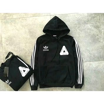 ADIDAS PALACE Men and women model cotton sweater Black