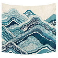 Tan & Blue Bech Waves Tapestry
