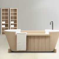 Freestanding solid wood bathtub Norvegia Collection by Dogi by GeD Arredamenti | design Enzo Berti