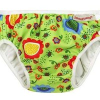 Green Floral Print Swim Diaper