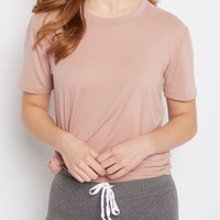 Pink Soft Brushed Tunic Tee | Short Sleeve | rue21
