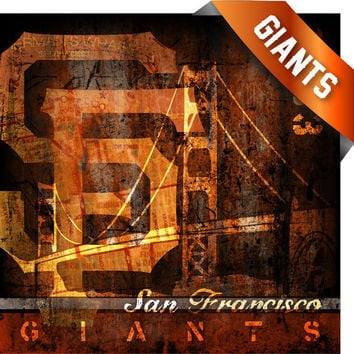 San Francisco Giants City Map Vintage Art Print - Perfect Birthday Gift