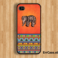 Hot Elephant and Aztec Design: Iphone 4/4s case Iphone 5 case