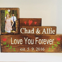 Personalized Wedding gift wedding frame home and living gift for her valentine's gift home decor wall hanging welcome sign