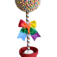 Jumbo Rainbow Lollipop Topiary
