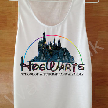 Hogwarts School Always tank top Harry Potter Shirt Custom Handmade Screen Print Funny White Clothing Women Tee T Shirts Tshirts Shirt S M L