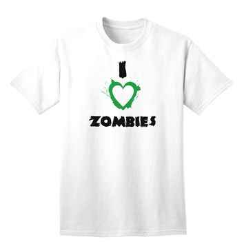 I Heart Zombies - Bloody Heart Green Adult T-Shirt