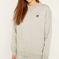 Fila Cassio Oversized Marled Grey Sweatshirt - Urban Outfitters