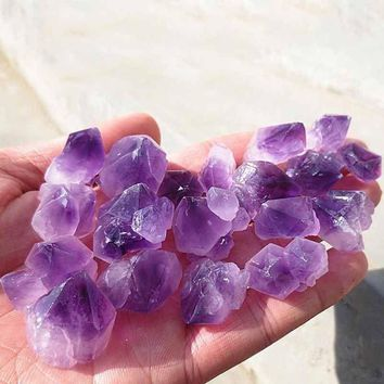 100g Natural Amethyst Skeletal Quartz Point Crystal Cluster Healing Specimen Natural Stones Minerals Home Desk Aquarium Decor