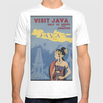 VISIT JAVA T-shirt by Kathead Tarot/David Rivera