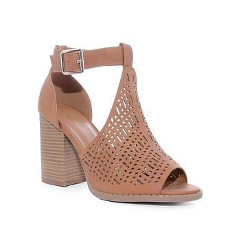 Camel Breann Ankle Strap Booties