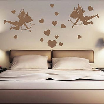 kik2261 Wall Decal Sticker angel love cupid heart living room bedroom