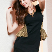 A Touch Of Gold Black Lotus Dress