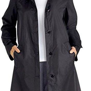 Pandapang Womens Autumn Trench Coat Outdoor Windbreaker Waterproof Raincoat