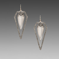 Alexis Bittar Santa Fe Deco Arrow Earring in Gray