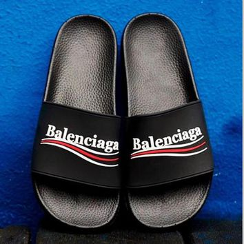 Balenciaga  Casual Fashion Women Floral Print Sandal Slipper Shoes