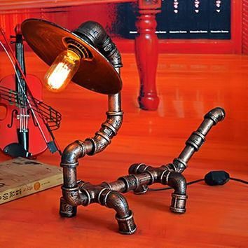 Desk Light Creative Retro American Country Table Lamp
