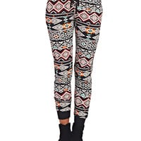 Tribal Print Super Soft Joggers | Wet Seal