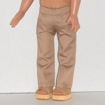 American Girl Doll Khaki Pants with Pockets fits 18 inch doll