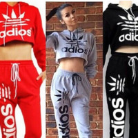 Fashion Casual Five Leaves Print Short Sweatshirt Sweatpants Set Two-Piece Sportswear