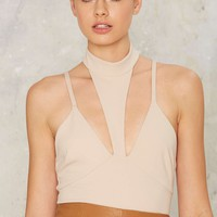 Neutral Party Halter Bodysuit