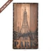 Wood Paris Plaque