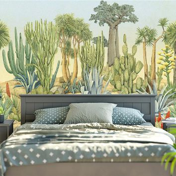 Sunny Cactus Gardens Tapestry Wall Hanging